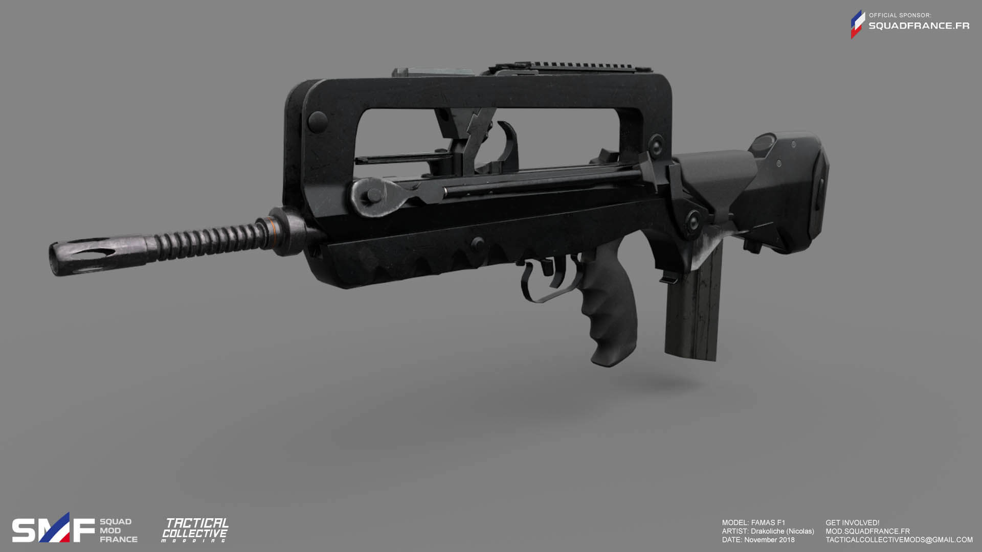 WIP #18 – Marksman, FAMAS and France, with an Interview with Bonfunk (3D Artist)